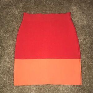 BCBG color block bandage high waisted skirt xs